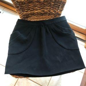 JCrew black skirt with pockets